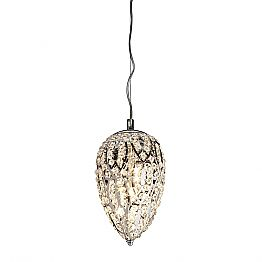Egg-shaped crystal pendant lamp Egg, modern design