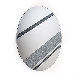Round mirror Athos made in Italy, modern design, glitter and glass