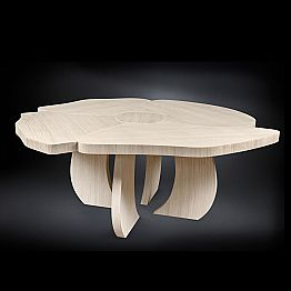 Brushed oak table with wax finish Andy, modern design