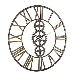 Large Vintage Style Wall Clock in Steel Homemotion - Maggio