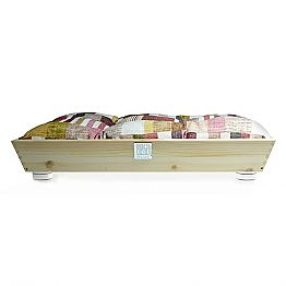 Dogs and Cats Bed in Solid Wood with Handles and Cushion Made in Italy - Lyn