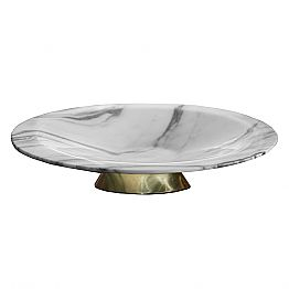 Centerpiece in Brezza della Versilia Marble and Metal Made in Italy - Amabile