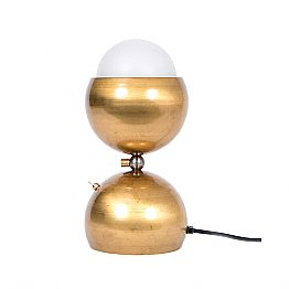 Handmade Design Table Lamp in Brass and Glass Made in Italy - Gandia