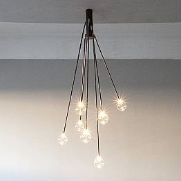 Handmade Iron Design Chandelier with 7 Lights Made in Italy - Ombro