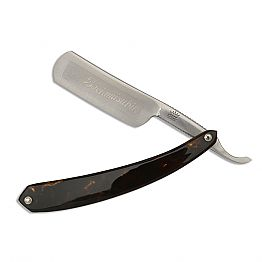 Straight Razor with Turtle Resin Handle Made in Italy - Mello