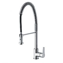 Kitchen Sink Mixer with Adjustable Brass Pipe Made in Italy - Cory