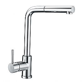 Brass basin mixer with ABS hand shower Made in Italy - Kalid
