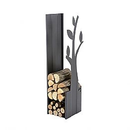 Steel Indoor Firewood Holder for Modern Design Fireplace - Maestrale1