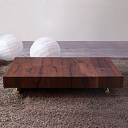 Transforming Coffee Table in Wood and Metal Made in Italy - Patroclo