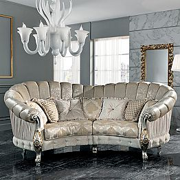 Made in Italy 4 seater fabric sofa, classi design, Alexander