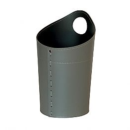 Recycled paper waste basket in handmade leather Ambrogio
