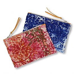 Hand-Printed One Piece Cotton Clutch Bag, 2 Pieces - Viadurinimilano by Marchi