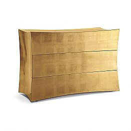 3-drawer dresser Isidoro made of MDF, modern design made in Italy