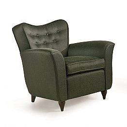 Fratelli Boffi Leonie modern design armchair with quilted backrest