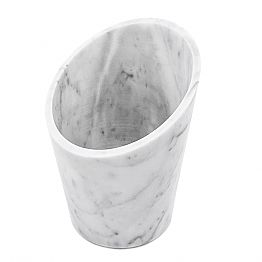 Wine or Champagne Glacette in White Carrara Marble Made in Italy - Ciotti