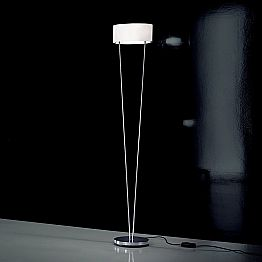 Leucos Vittoria TR modern floor lamp made of white blown glass