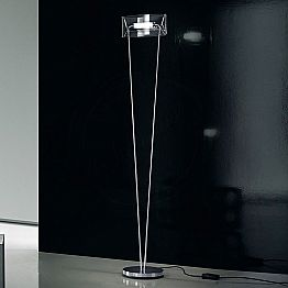 Leucos Vittoria TR designer floor lamp made of crystal blown glass