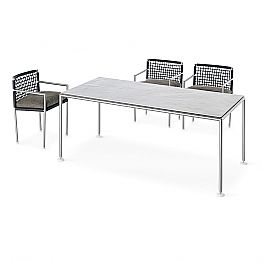 Modern Design Steel and Quartz Outdoor Table Made in Italy - Ontario7