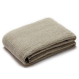 Plaid Blanket in crumpled Linen Natural Color Made in Italy - Blessy