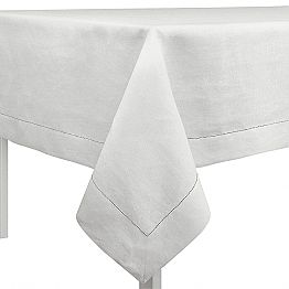 Rectangular or Square Tablecloth in Cream White Linen Made in Italy - Chiana