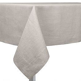 Natural, Rectangular or Square Linen Tablecloth Made in Italy - Poppy