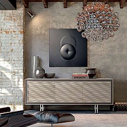 Contemporary design sideboard Teresa in solid wood, L192 x W 50 cm