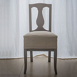 Chair in beech lacquered beech wood made in Italy, Kimberly, 2 pieces