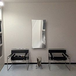Modern design hot water mirror radiator made of glass Barry,up to 709W