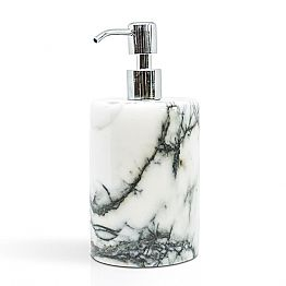 Bathroom Soap Holder in Paonazzo Marble of Made in Italy Design - Curt
