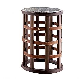 Grilli Harris modern design round smoking table 100 % made in Italy