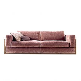 3-seater upholstered design sofa Grilli York 100 % made in Italy