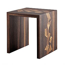 Grilli Zarafa design coffee table in ebony wood made in Italy