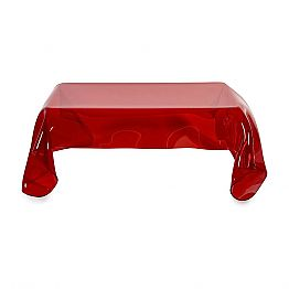 Red plexiglass coffee table with a modern design Asia, made in Italy