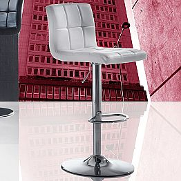 Modern Design Lift-up Stool, Eco-Leather Seat - Delfina