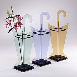 Modern Design Umbrella Stand in Colored Methacrylate Made in Italy - Daddy