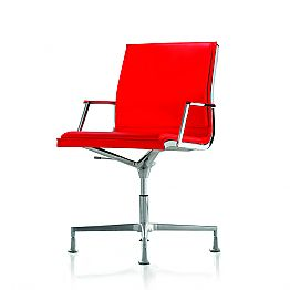 Leather/Fabric executive office chair Nulite by Luxy, modern design
