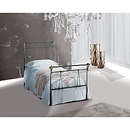 Wrought-iron single bed Perseo