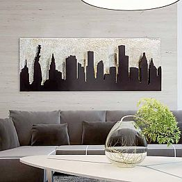 Embossed painting on canvas Donald, reproduction of Manhattan