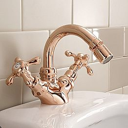 Classic Design Single-Hole Bidet Mixer in Brass Made in Italy - Klarisa