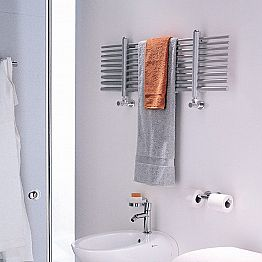 Horizontal hot water towel warmer Selene made in Italy by Scirocco H