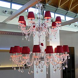 24-arm crystal chandelier Audrey