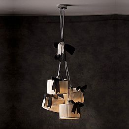 Vintage design 4-light silk pendant lamp Chanel