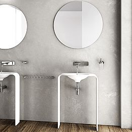 Modern floor bathroom furniture composition made in Italy Siena