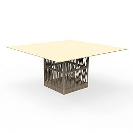 Cliff square outdoor table 150cm, in aluminum Talenti by Palomba