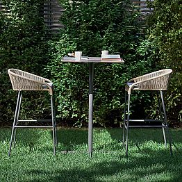 Outdoor high stool with a modern design, set of 2 Cricket by Varaschin