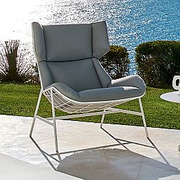 Modern design bergere garden armchair by Varaschin Summer Set