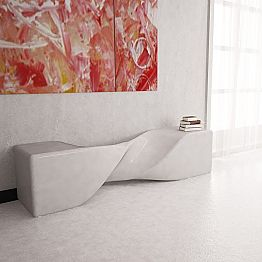 Modern design Solid Surface reception desk Bob, handcrafted in Italy